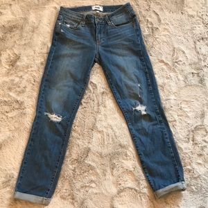 "Paige ""Kylie Crop"" distressed jeans size 27"